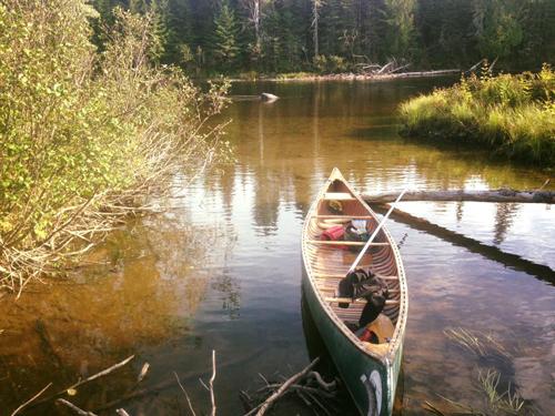 Allagash Canoe Trips Loaded Canoe