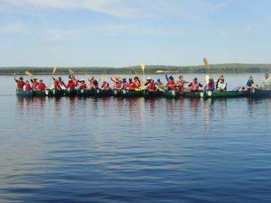 Allagash Canoe Trips large group