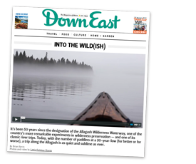 DownEast Magazine article about Allagash Canoe Trips