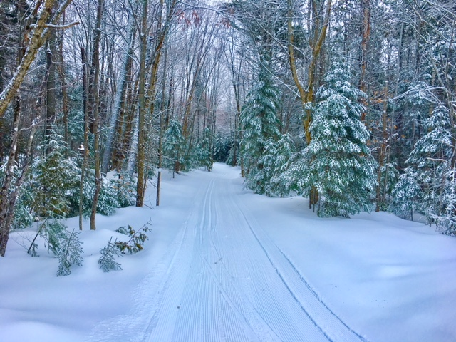 Groomed wilderness Nordic trails Maine Huts & Trails